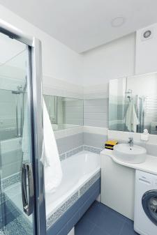 перепланировка однокомнатной квартиры, ванная