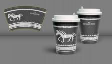 Брендирование  стаканчика для конного магазина