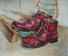 """""""Ботинки Тани """"40*50  см. 2015 г."""