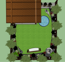Задній двір у котеджі