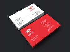 Дизайн визиток для агентства Аспект