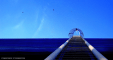 Полёт. Синий и голубой.Лестница ведущая в небо.