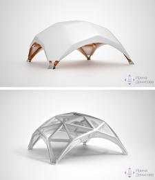 3d моделирование и визуализация шатра