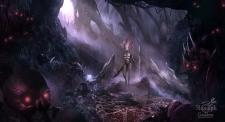Локация с персонажем, детализированная