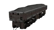 3D модель вагона-самосвала