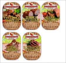 Дизайн этикетки для мясокомбината
