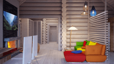 Интерьер деревянного дома из сруба