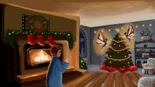 Иллюстрация для книги. Рождественская ночь
