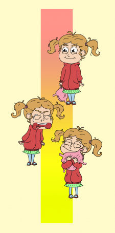 map of emotions the little girl