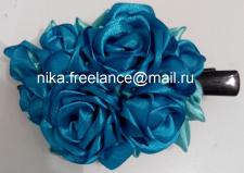 Заколка (Синяя роза)