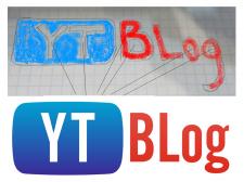 Отрисовка логотипа YTBlog по эскизу