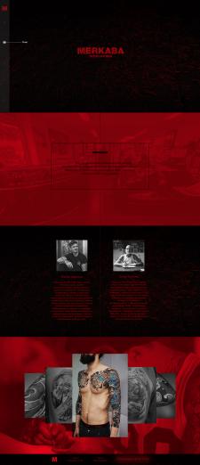 Дизайн сайта для студии тату