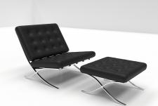 3D Моделирование и визуализация кресла Barcelona