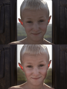 Ретушь портрета ребенка.(автор фото)