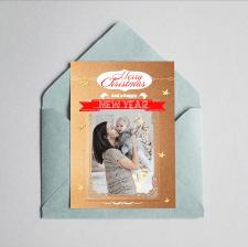 Шаблон для новогодней открытки