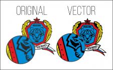 Отрисовка в вектор военного логотипа