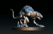 ratuswolf, zbrush