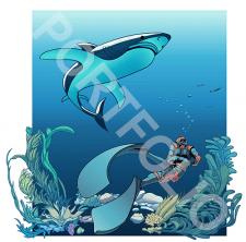 Vector seadiver