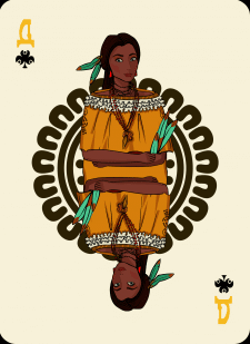 Spielkarten Indians- Farbig3
