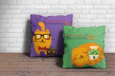 Сувенирная продукция для онлайн-курсов. Подушки