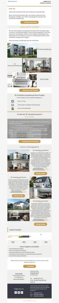 Письмо для дизайнерской студии в Германии