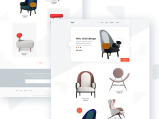 Website design for the store of chairs