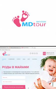 Логотип для компании MDtour