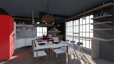 Кухня-студия в загородном доме в Сумах