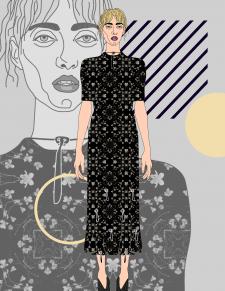 Fashion-иллюстрация, эскизы одежды