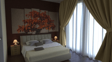 Дизайн и визуализация спальни ver. 2