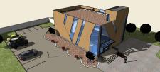Эскизный  административно - торгового  здания