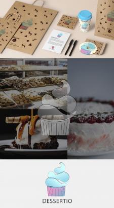 "Логотип магазина десертов ""Dessertio"""
