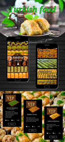 Mobile application for buying baklava