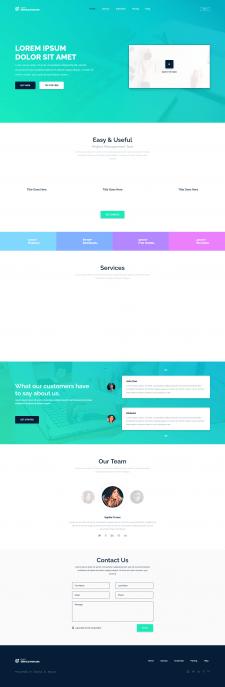 Адаптивный сайт услуг - Dart Service Manager