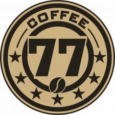 """Логотип кофейного киоска """"77"""""""
