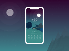 Screen design for Weather app