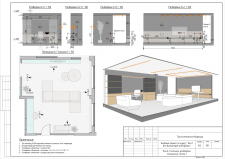 Пакет чертежей по проекту трехкомнатной квартиры