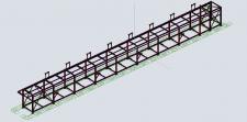 Эстакада металлоконструкция в Advance Steel