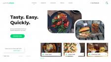 Дизайн главной страницы сервиса по доставке еды