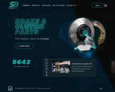 Верстка сайта с тормозными дисками SB Nagamochi