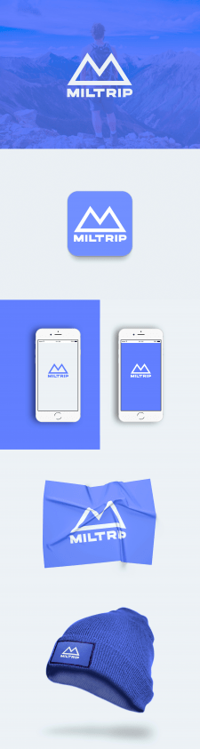 "mobile app icon design ""Miltrip"""