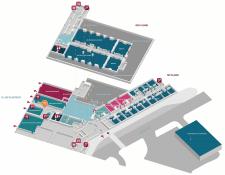 3D план гостиницы главных зон для посетителей