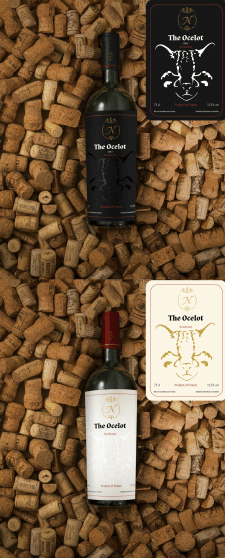 Конкурсная работа, Этикетка для вина