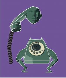 Телефон на ногах