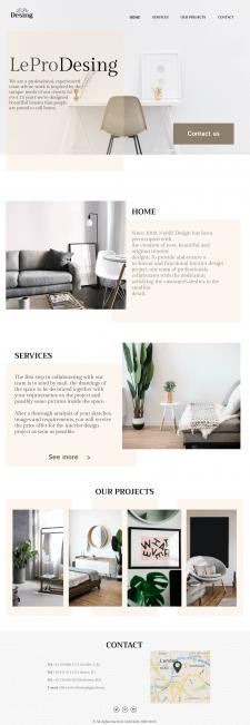 Lading page -студия дизайна