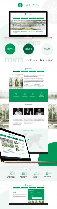 Дизайн сайта аграрной промышленности