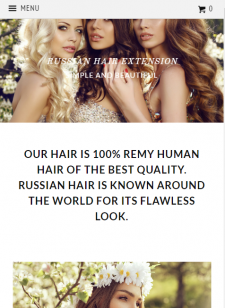 Hair Extension - Shopify интернет-магазин