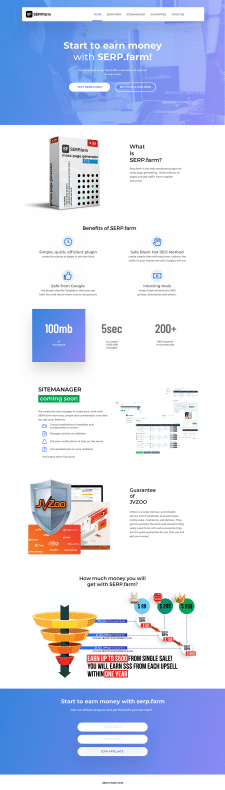 landing page for serp.farm