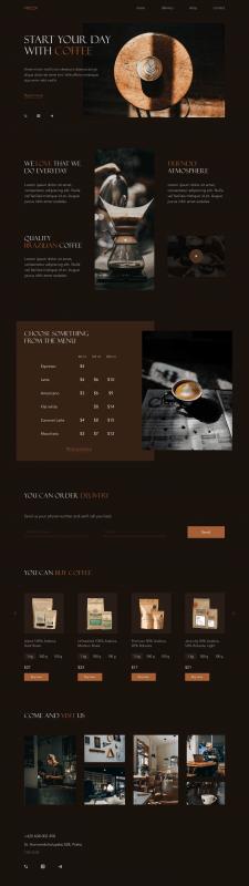 Лендинг для кофейни