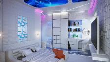 Спальня в футуристической стилистике
